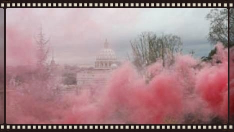 Pink Smoke Rising Over the Vatican during the Women's Ordination Worldwide Vigil at the Papal Conclave, March 12, 2013.