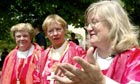 Three 'bishops' at the ordination of a female French priest in Lyons in 2005. All four women were excommunicated. From left: South African Patricia Fresen, Austrian Christine Mayr-Lumetzberger and German Gisela Forster. (Jean-Pierre Clatot/AFP)