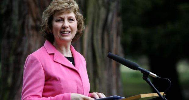 "Mary McAleese: senior church leaders have ""until now"" believed the church could only survive through ""unquestioning obedience to the exclusively top-down teaching magisterium"". Photograph: David Sleator -"