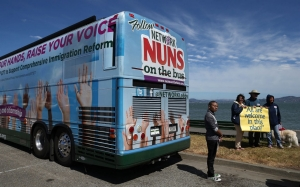 The Nuns on the Bus campaign Justin Sullivan | Getty Images