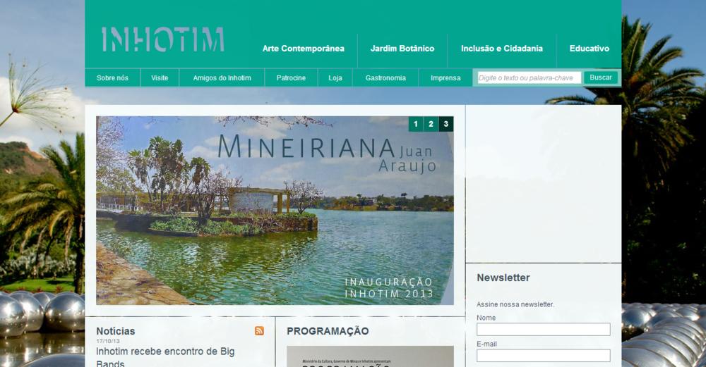 Exemplo de aplicação do banner na homepage do antigo site.