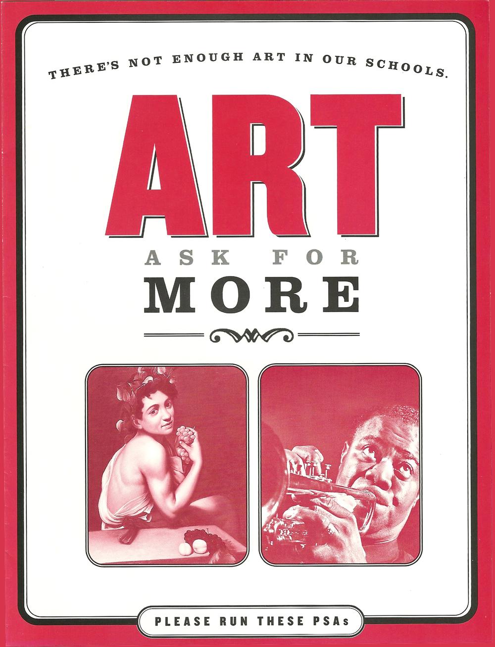 The Ad Council: Arts PSA Flyer