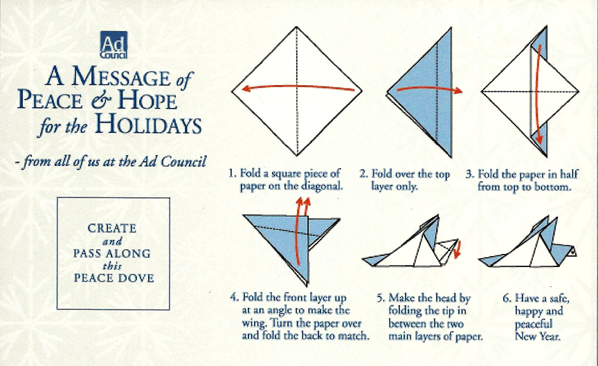 The Ad Council: Origami holiday card