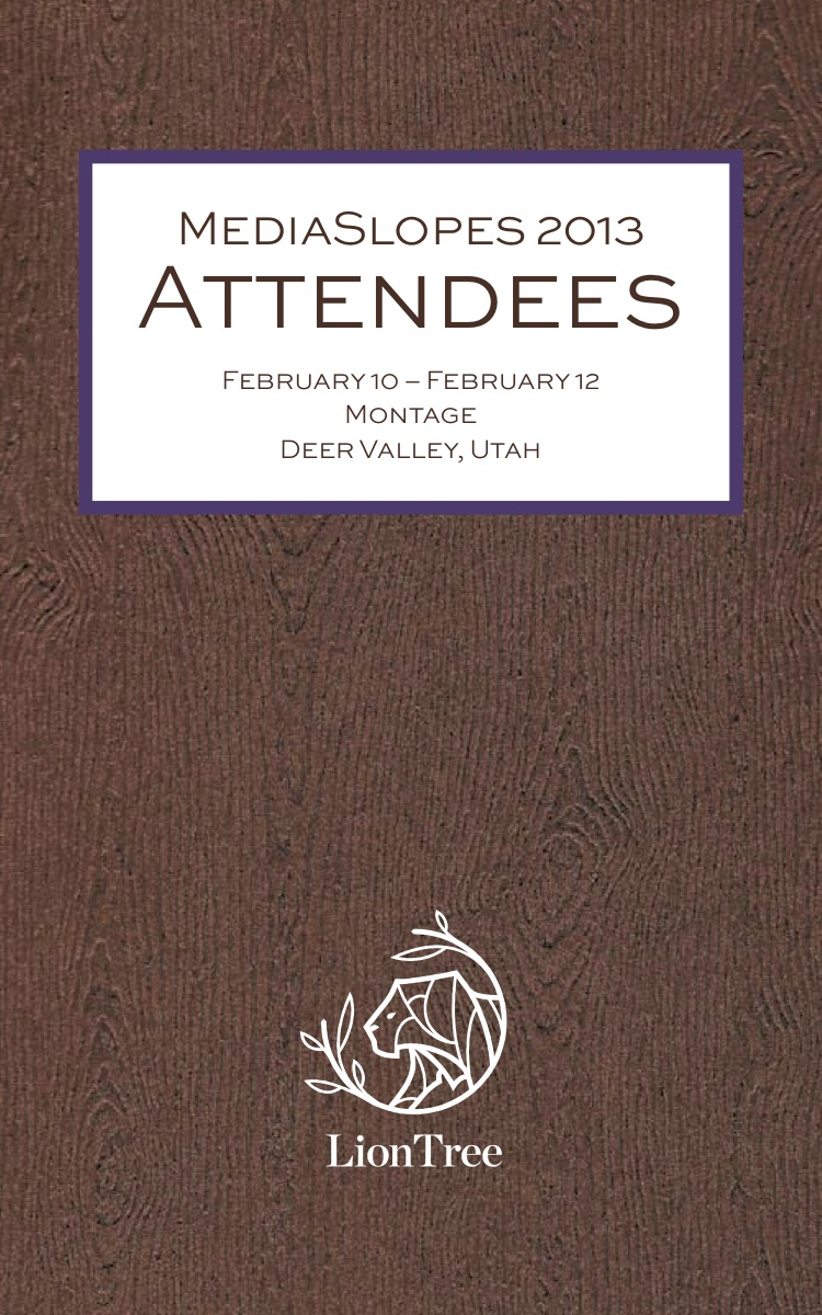 Attendee biography booklet