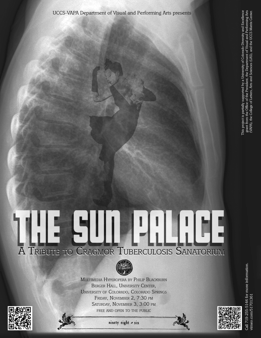 Poster for live premiere of The Sun Palace at UCCS