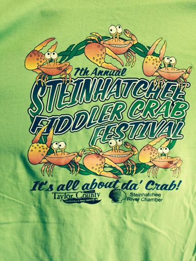 2015 Fiddler Crab festival t-shirt design
