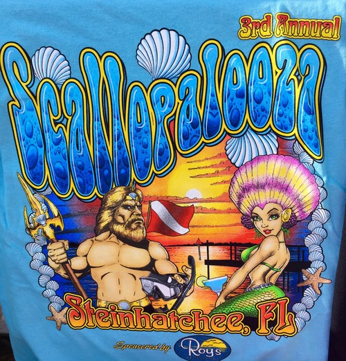 Buy your official 2105 scallopalooza t-shirts here