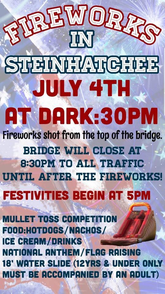 Fireworks information for the 2018 event.