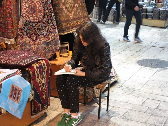 Drawing in Istanbul, Turkey, 2013