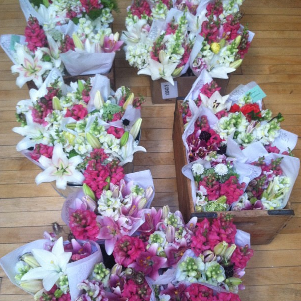 Week one of the summer flower shares ready for delivery.