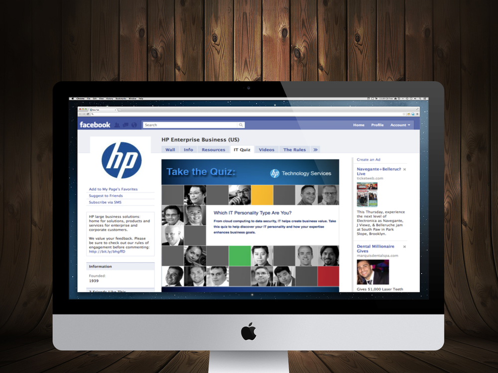 HP: Technology Services Experts Sweepstakes and Facebook Application