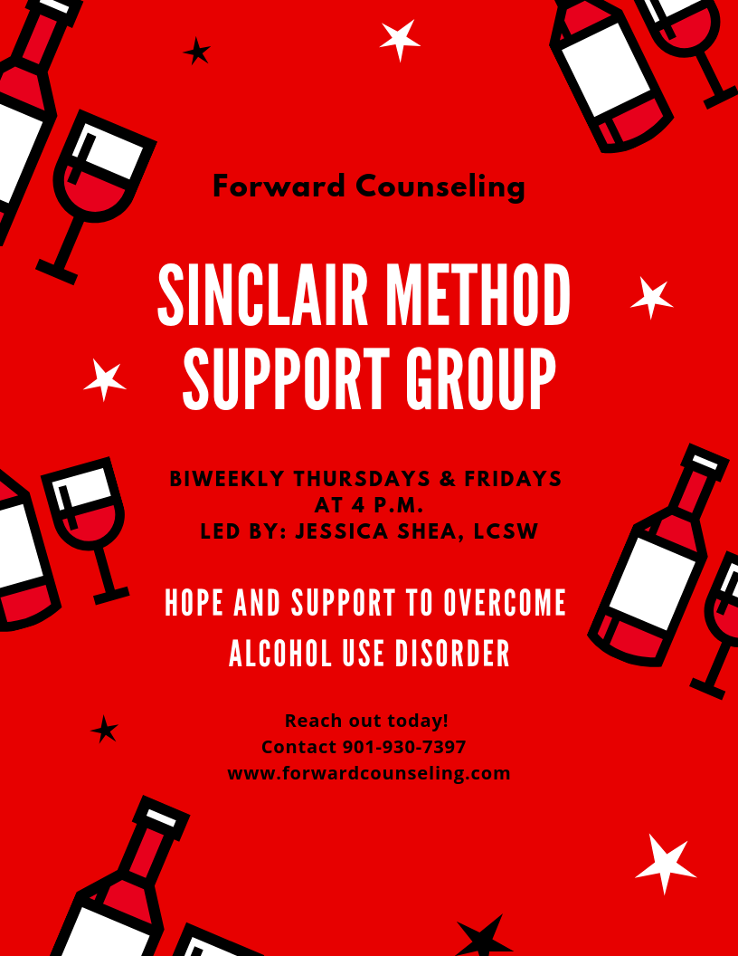 The Sinclair Method Psycho education and Support Group led by Jessica Shea, LCSW and our Medical Staff