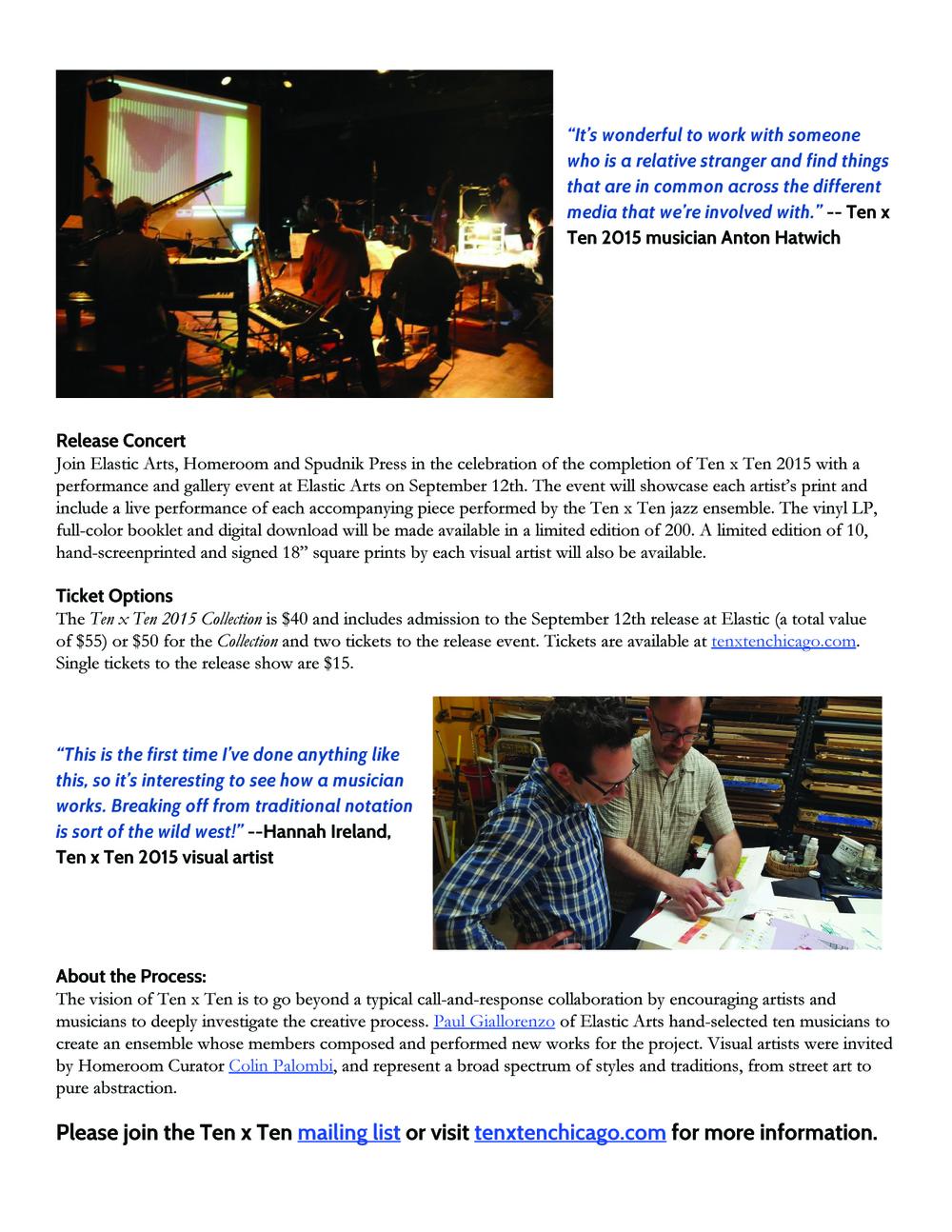 Ten x Ten 2015 Press Release 2/5