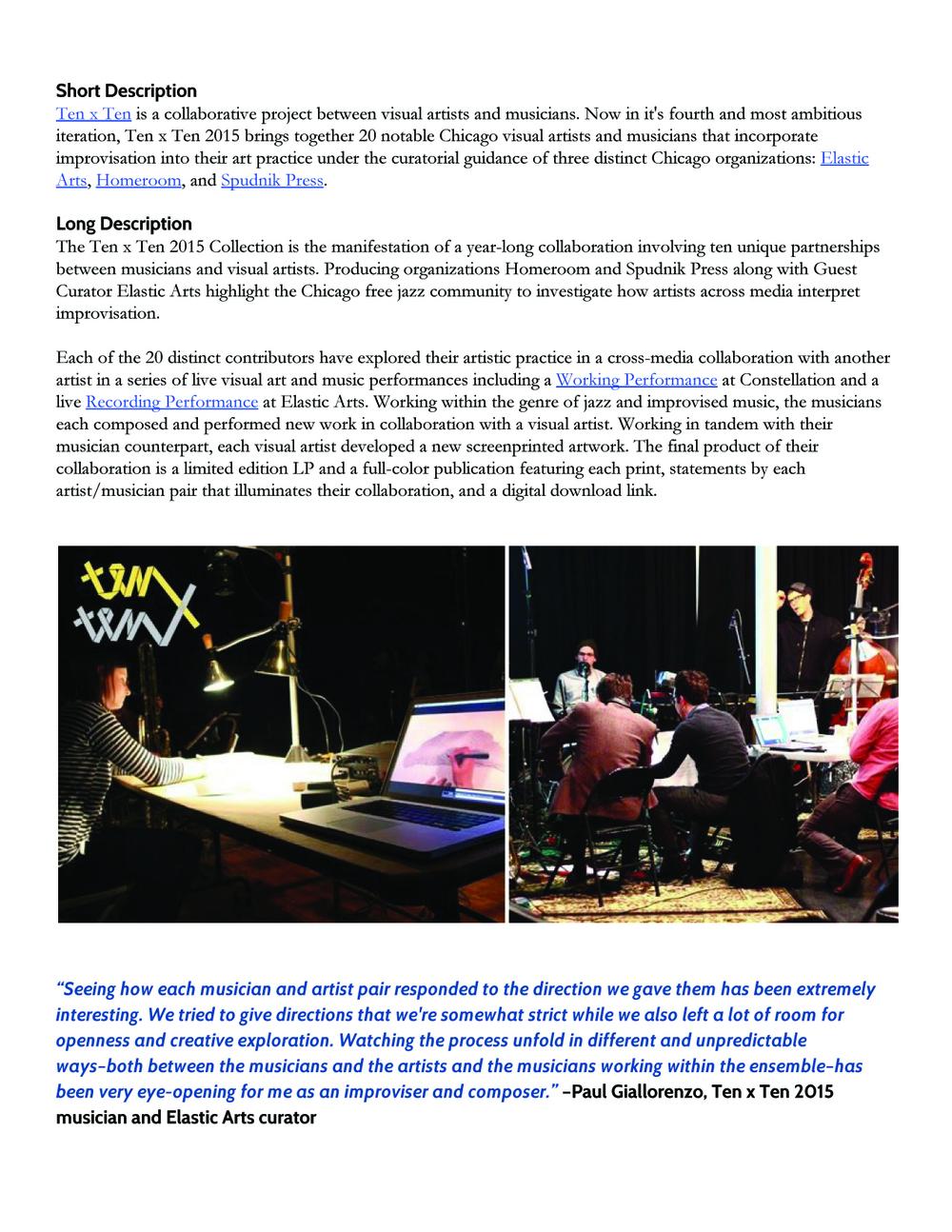 Ten x Ten 2015 Press Release 3/5