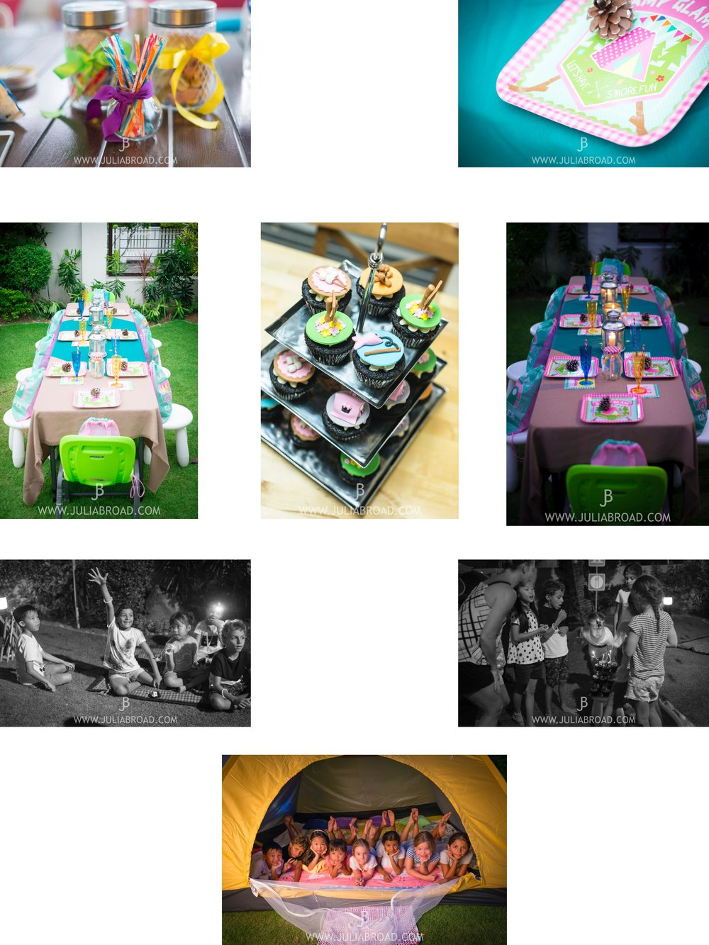 A very special birthday for a very special girl. Why go camping when you can go glamping? Complete with treasure hunt, BBQ and themed cupcakes.
