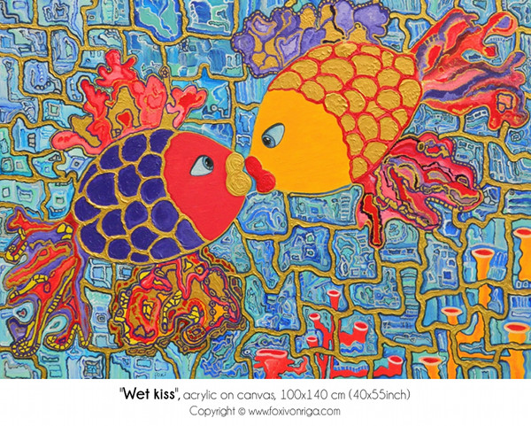 Wet Kiss_foxivonriga_acrylic on canvas_100x140cm.jpg