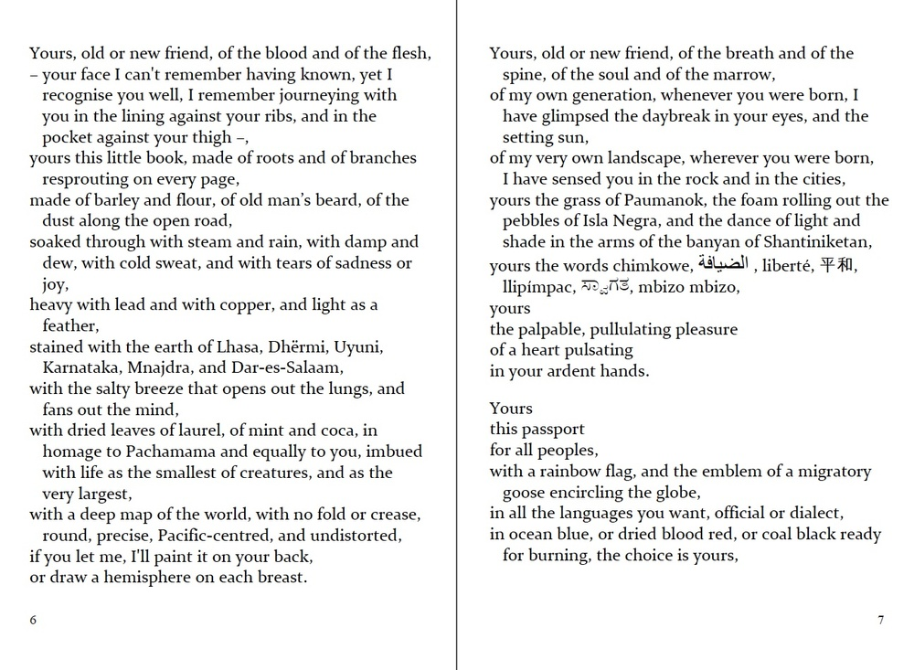 """p. 6-7 of the English """"Passport"""". Adapted from the Maltese by Albert Gatt & Antoine Cassar, 3rd edition."""