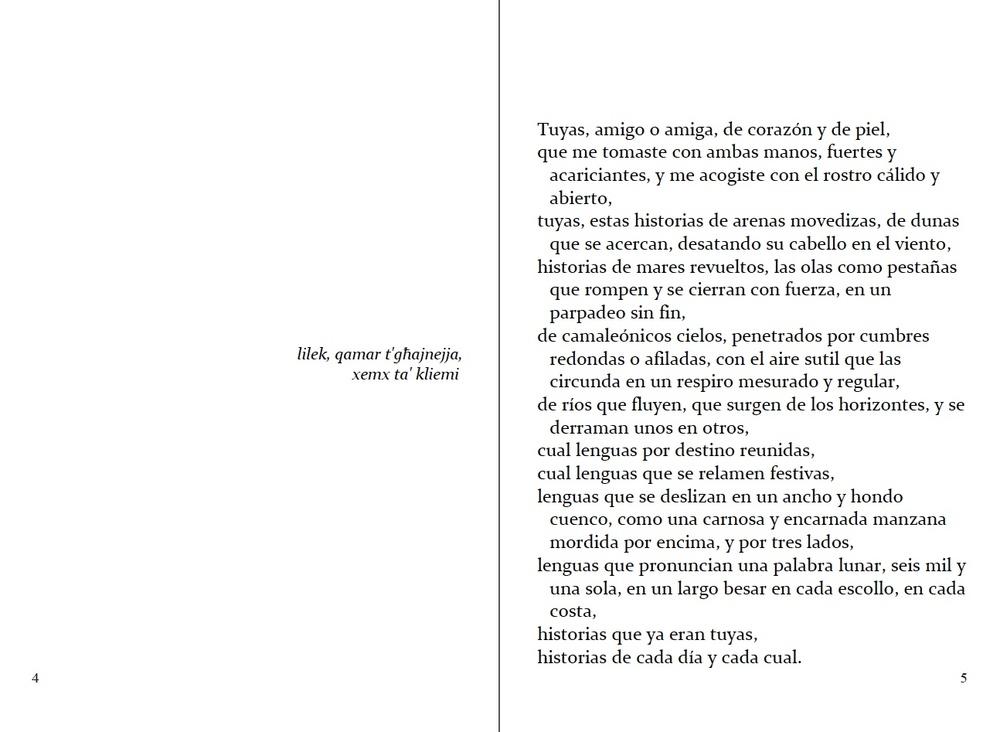 """pp. 4-5 del """"Pasaporte"""" en castellano. Adaptado por Carmen Herrera & Antoine Cassar (2ª edición)."""