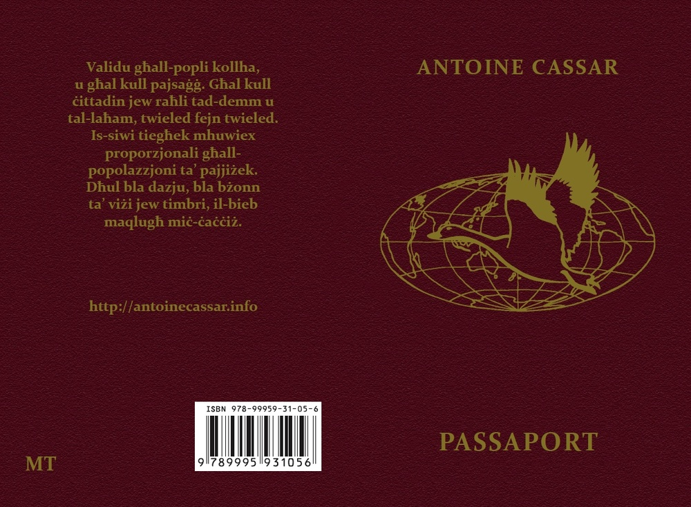 """Passaport"", in the original Maltese (2nd edition)."