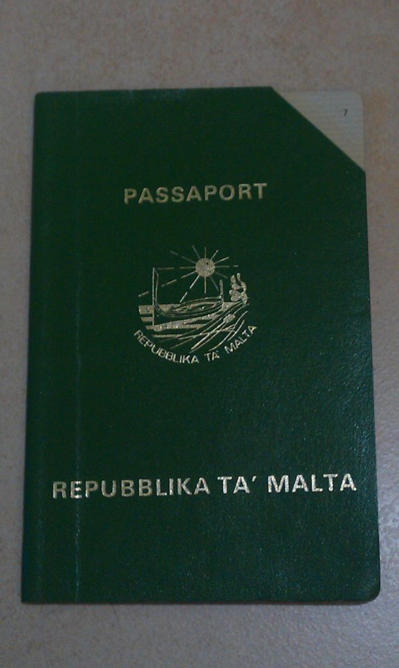 The green Maltese passport of the 1980s. Photo by Caldon Merceica.