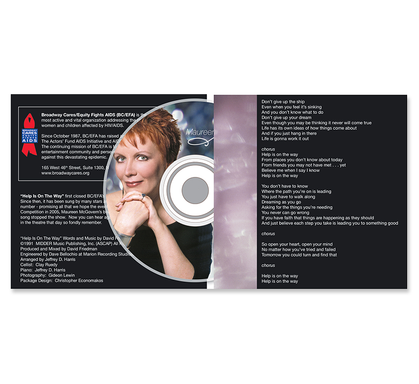Help is on the Way CD Cover - Interior and CD