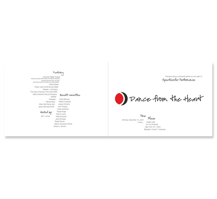 Dance from the Heart 2007 Invitation - Interior
