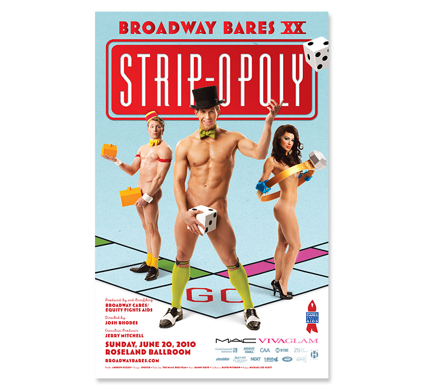 Broadway Bares 20: Stripopoly Original Poster by SPOTCO