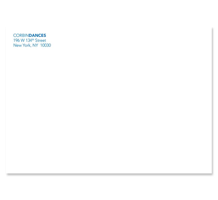 CorbinDances 2011 Mailing Envelope