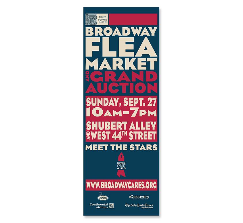 Broadway Flea Market 23 Street Pole Banner