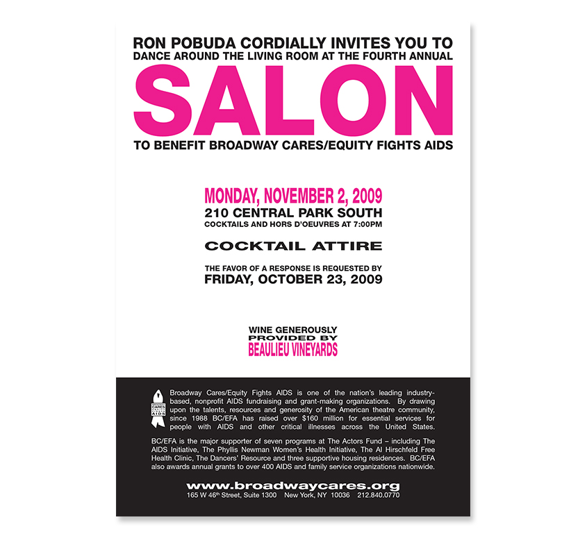 Salon 2009 Invitation - Card 01 Back