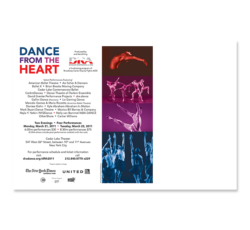Dance from the Heart 2011 Postcard - Back