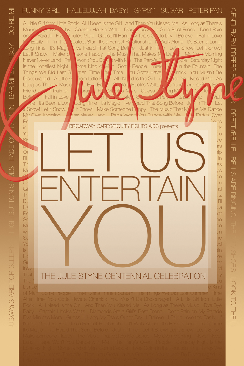 Let Us Entertain You Postcard - Front