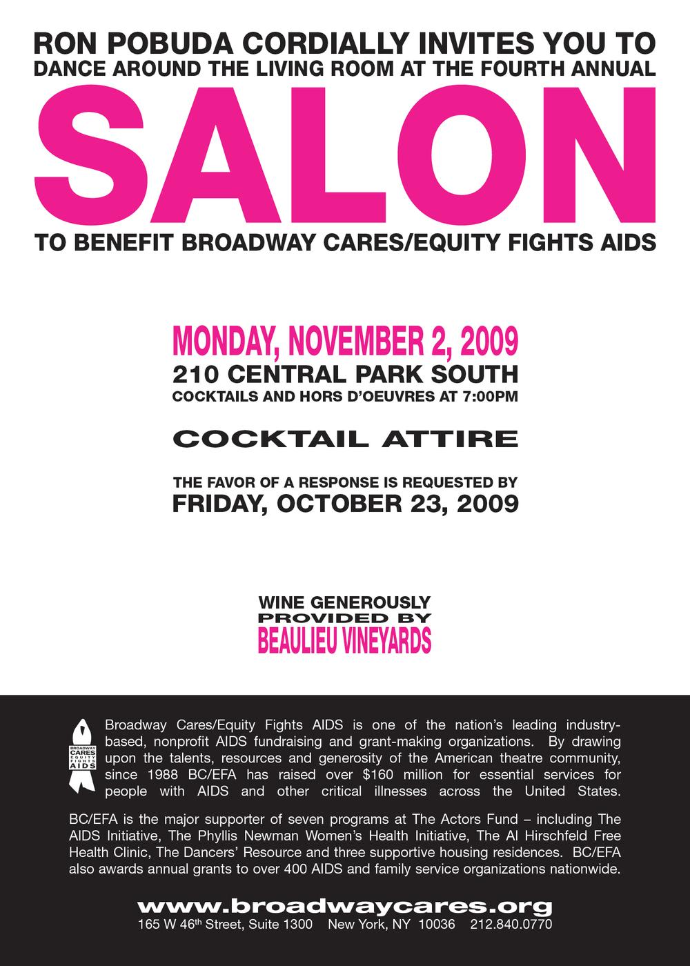 Salon 2009 Invitation - Card 01 - Back