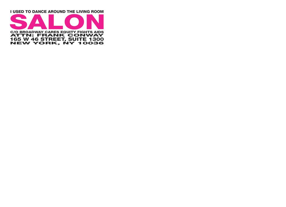 Salon 2009 Invitation - Mailing Envelope