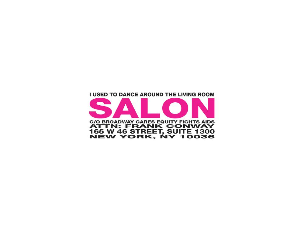 Salon 2009 Invitation - RSVP - Envelope