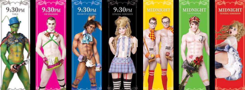Broadway Bares: Wonderland Tickets - Front