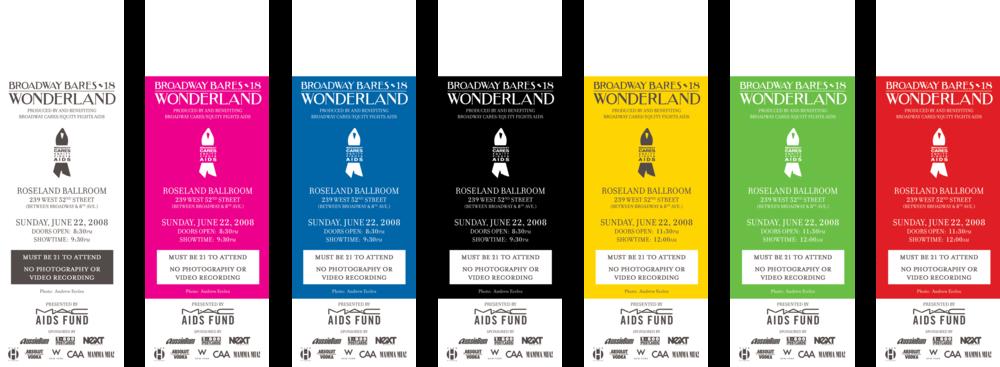 Broadway Bares: Wonderland Tickets - Back