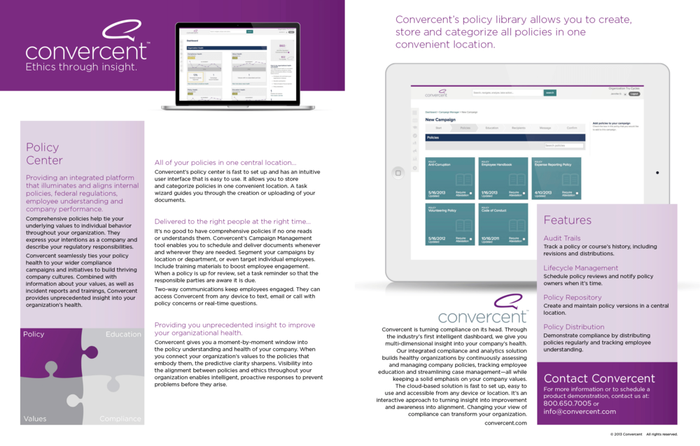 Policy Center Datasheet