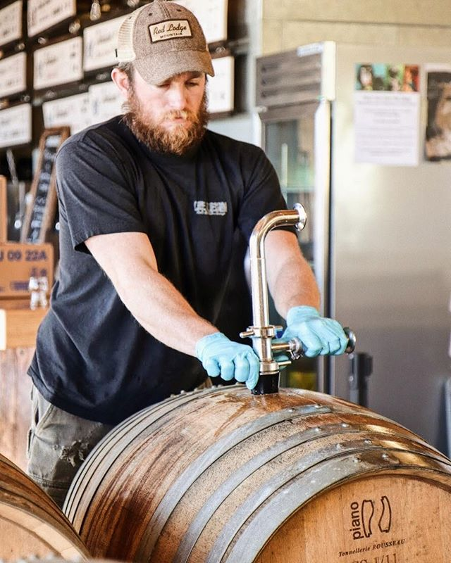 "Prepping for another batch of our Barrel Aged Series, so you can have a ""sunday dinner party"" cider."