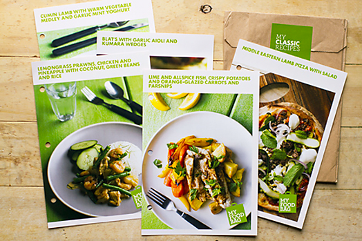 My food bag bibby and brady you also get a free recipe folder with the weeks recipes the recipe cards are fantastic and really easy to follow including the prep and cook time forumfinder Images