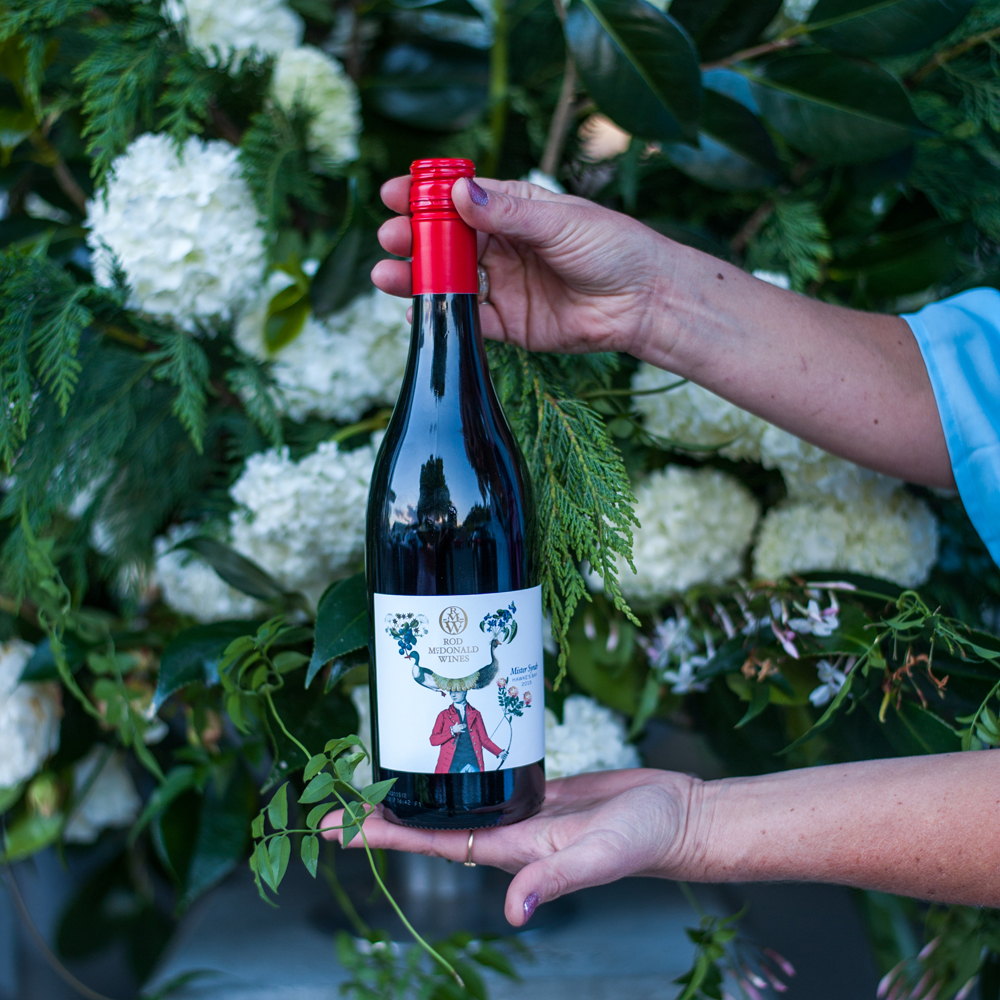 One of the divine  'Mister' wines by Rod McDonald  |  photo: Florence Charvin