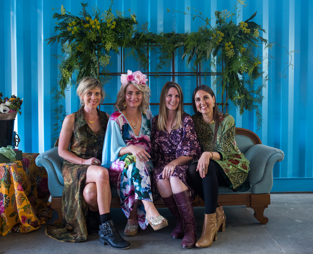 From left to right:  Sarah Wiig ,  Laura Jeffares ,  Sarah Till  &  Sarah Zonneveld  |  photo: Florence Charvin