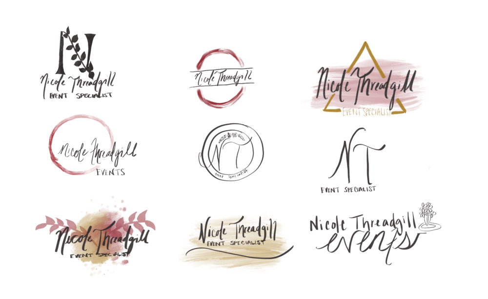 First Iterations for Logo Design