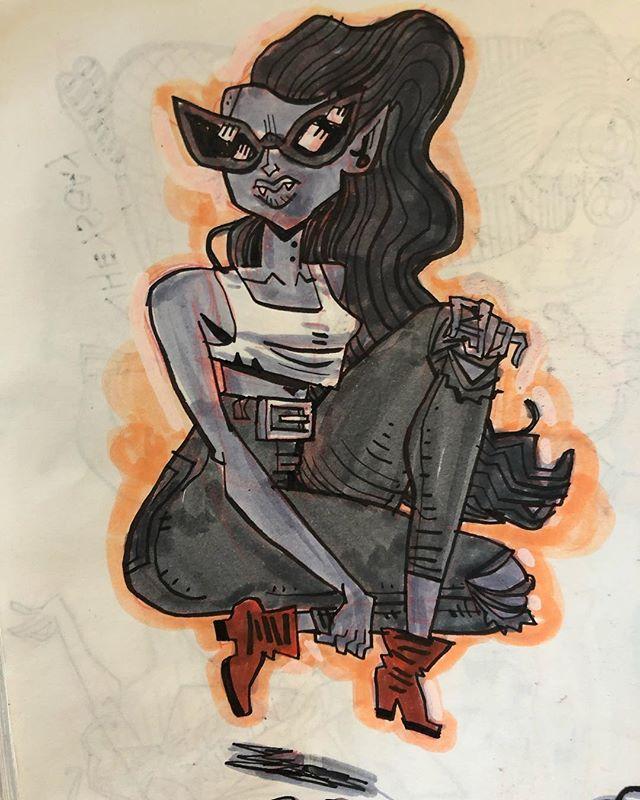 #fanartfriday — Marcy, Cammy, Cyke, & Red. ✌️ . . . .  #art #illustration #drawing #sketch #sketchbook #ink #brush #illustratorsoninstagram #illustratorsofinstagram #dailydrawing #draweveryday #drawwhatsinyourhead #thumbsoneill #zebrapen #drawingaday #characterdesign #brushpen  #adventuretime #streetfighter #xmen