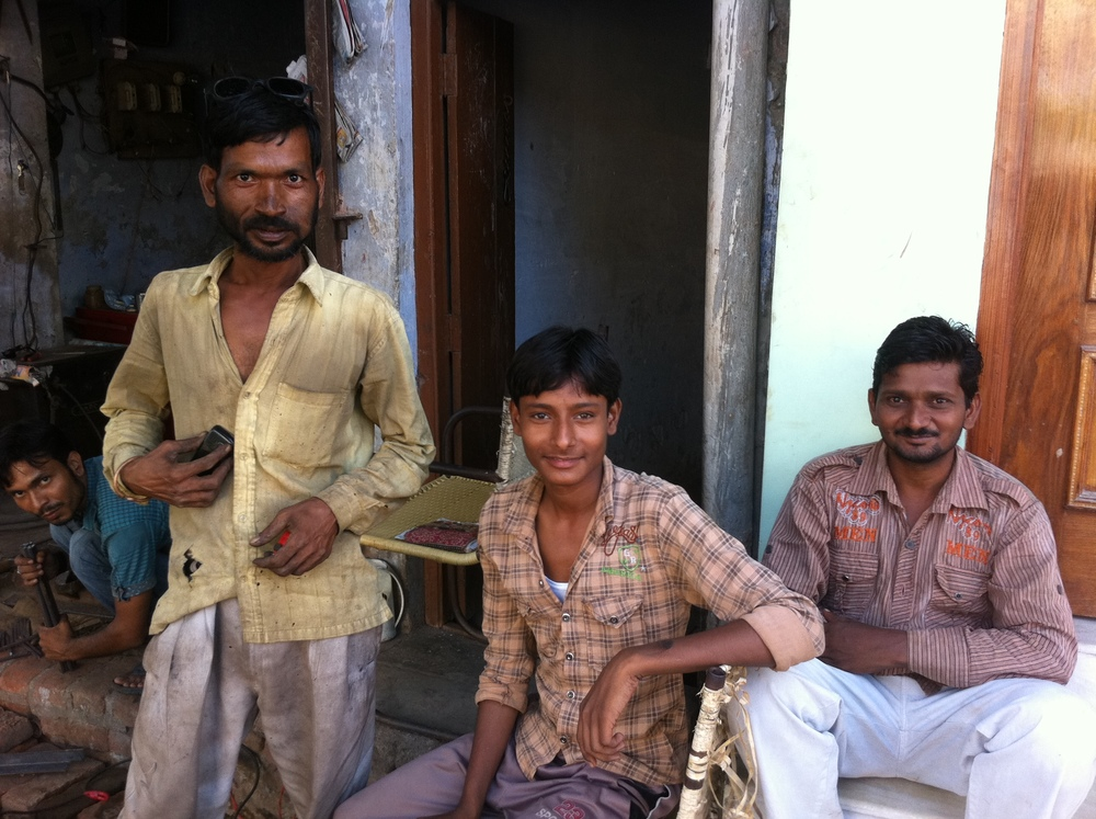 Welder and friends in Farrukhabad, India