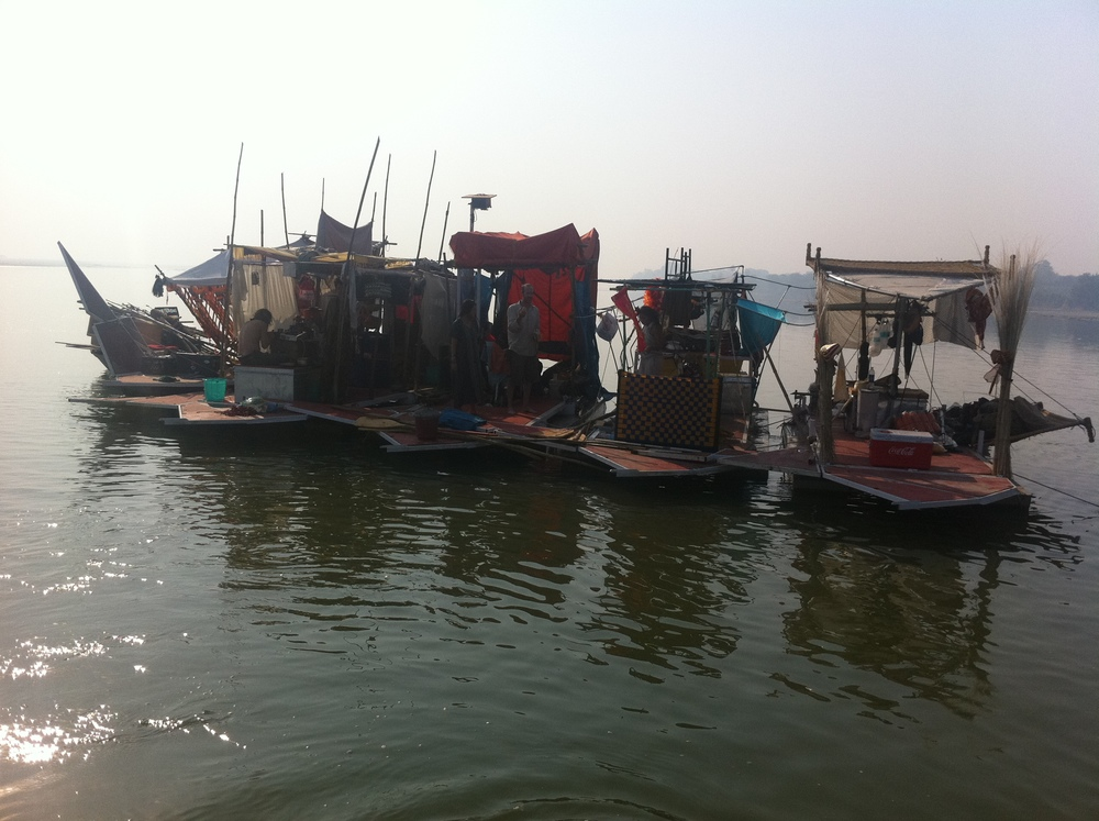 The Swimming Cities boats on the Ganges.