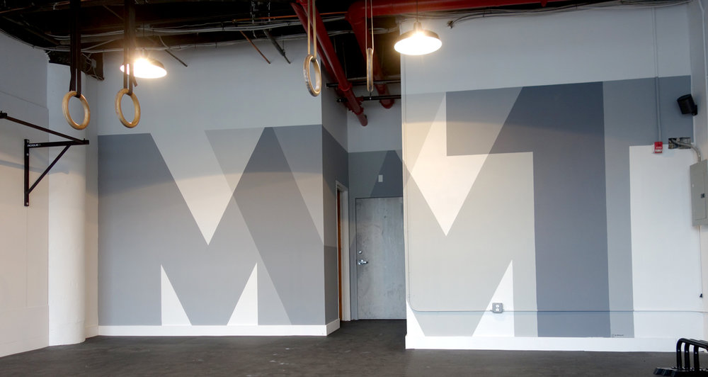 Mural I made for  Movement Brooklyn  based on their logo.