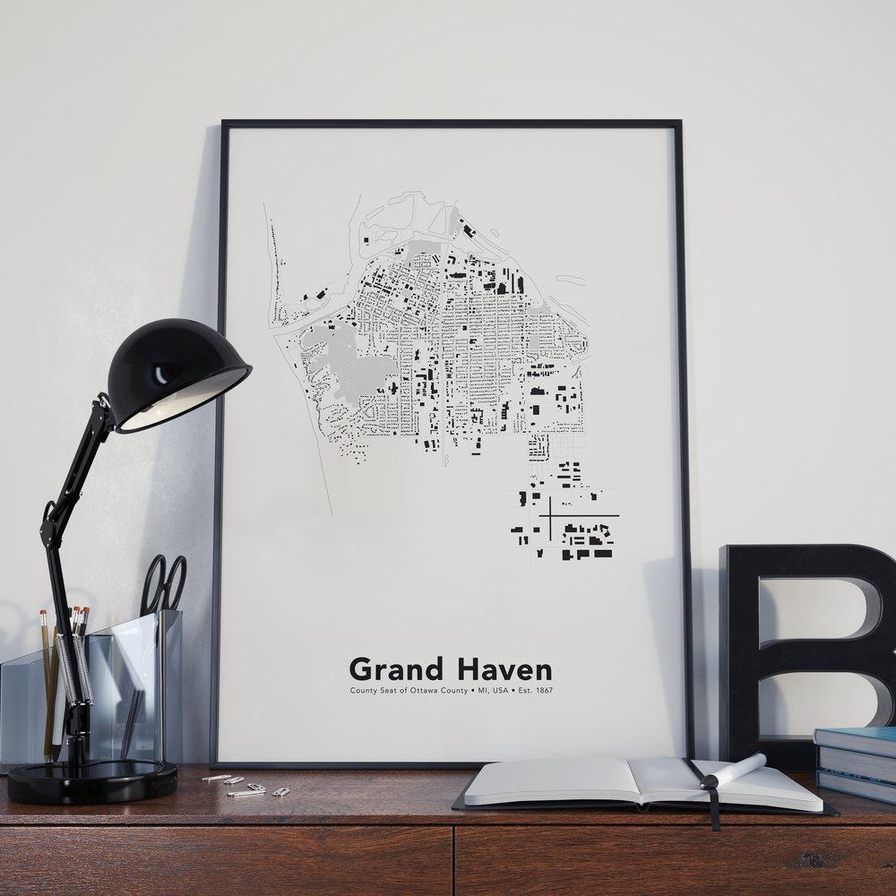 Grand Haven, MI Map Print
