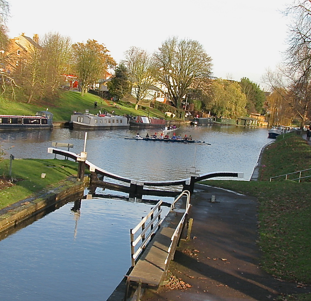 River Cam from Jesus Green footbridge