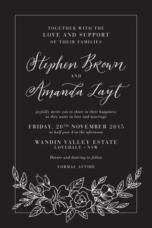 Wedding stationery etiquette better together paper co example of a semi formal invitation hosted by the bride amp groom with their stopboris Image collections